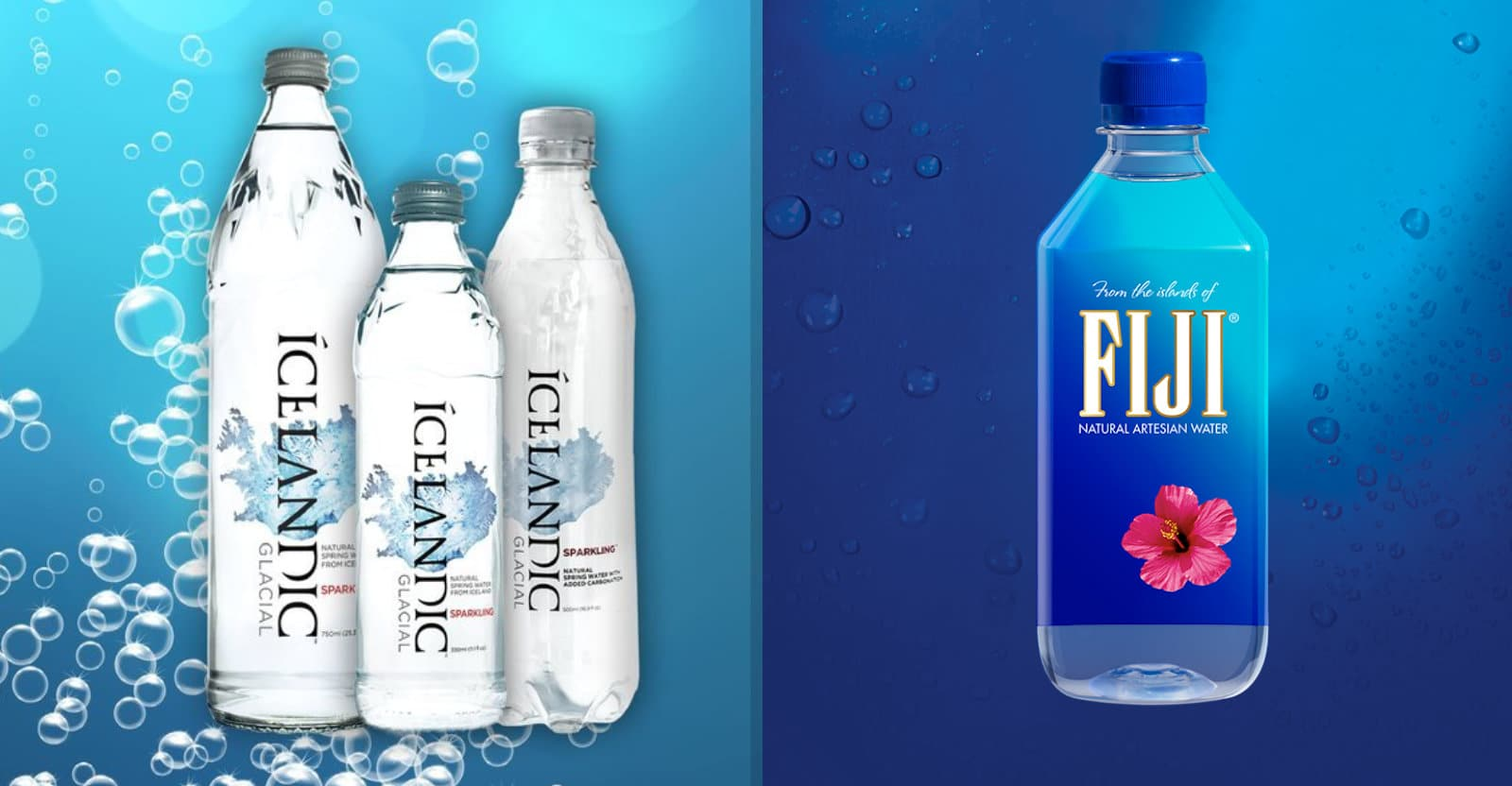 icelandic glacial water vs fiji water