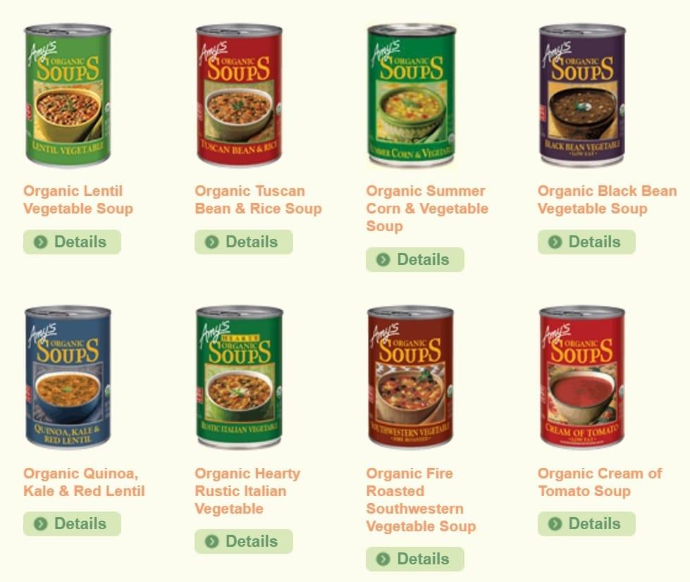amys gluten-free soups