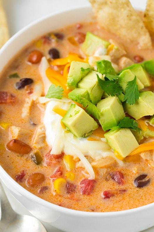 gluten-free creamy chicken tortilla soup