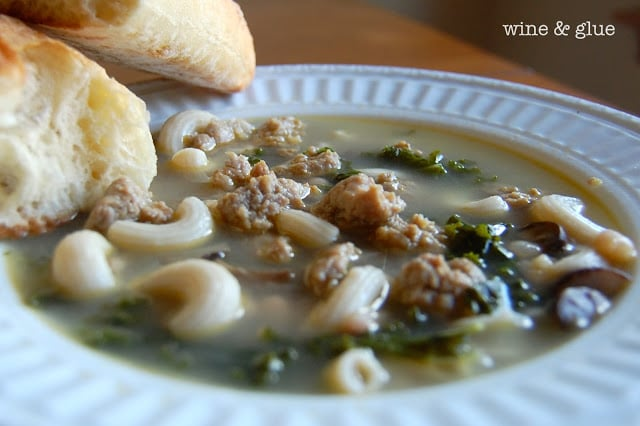 gluten-free sausage and kale soup