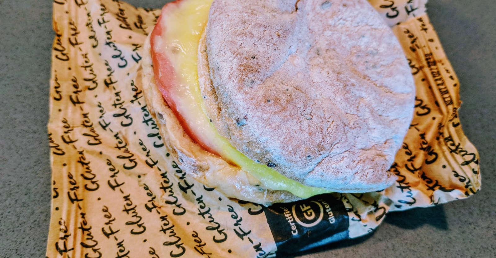 Starbucks gluten-free breakfast sandwich